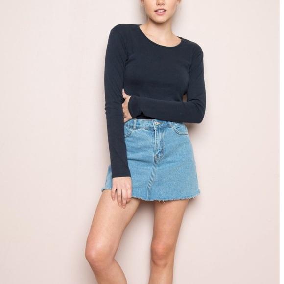 Brandy Melville Dresses & Skirts - Brandy Melville Jean Skirt